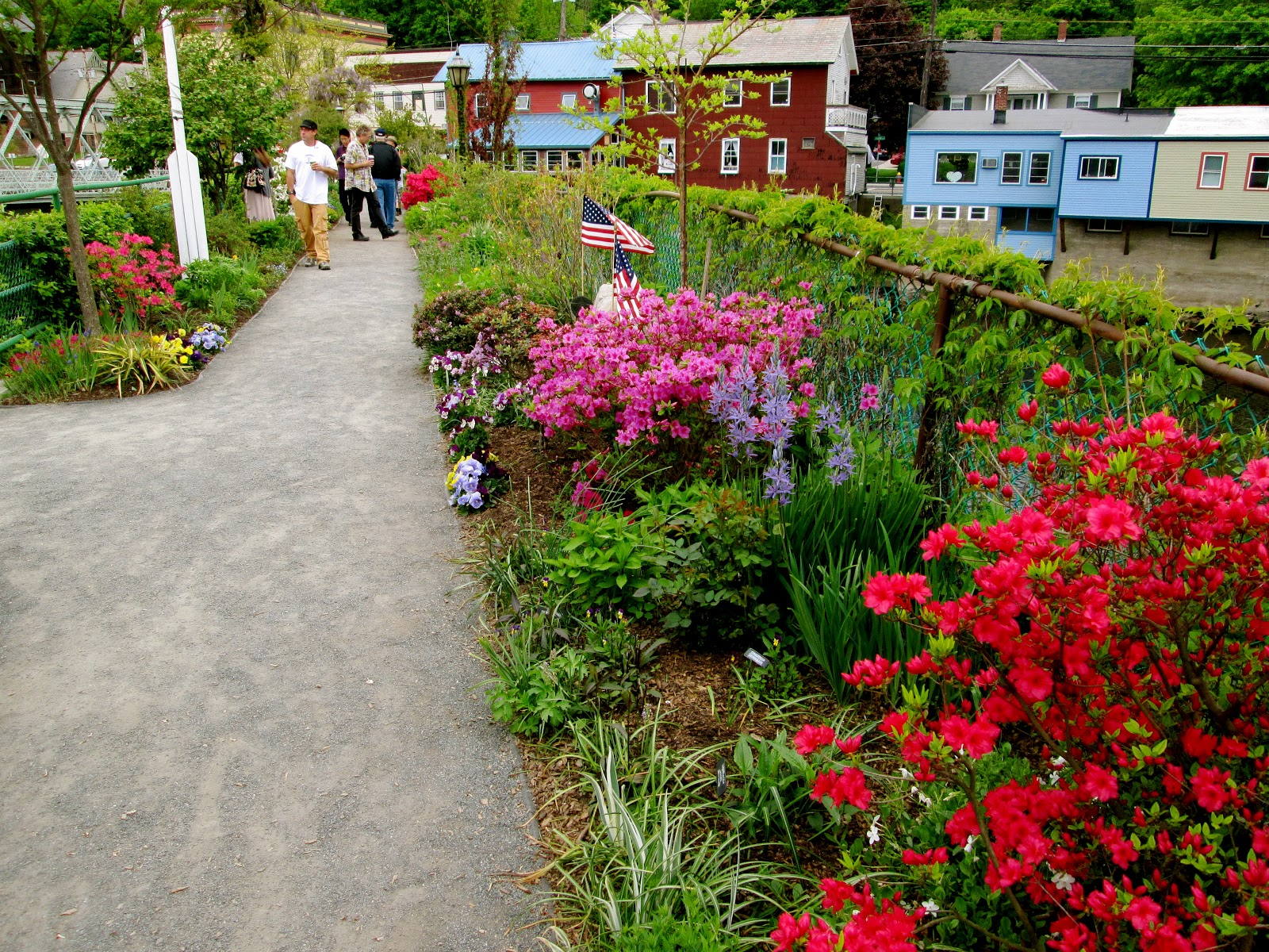 Bridge of Flowers.  Shelburne Falls