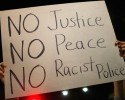 justice protest sign